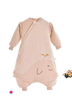 Baby Color Cotton Leg Sleeping Bag Baby Long Sleeve Detachab