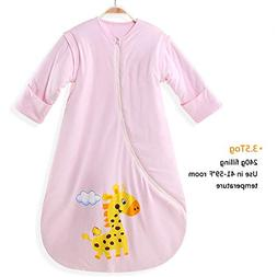 EsTong Unisex Baby Cotton Sleeper Gowns Toddler Wearable Bla
