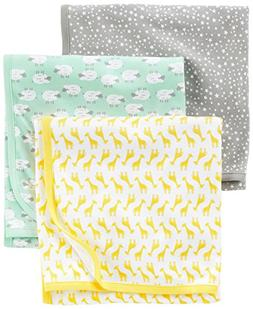 Simple Joys by Carter's Baby 3-Pack Cotton Swaddle Blanket,