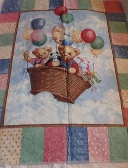 baby crib blanket quilt bears in a