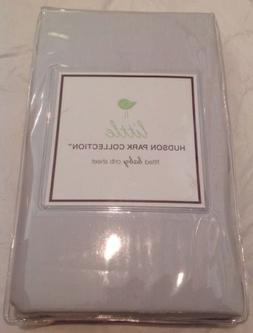 LITTLE HUDSON PARK Baby Crib Fitted Sheet Grey Pearl Solid C