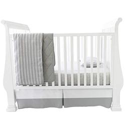 Baby Crib Set 4 pc, Crib Sheet,Quilted Blanket, Crib Skirt &