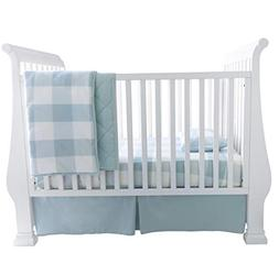 Baby Crib Set 4 pc, Crib Sheet,Quilted Blanket, Crib Skirt &