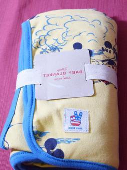 Junk Food Baby Disney Mickey Mouse Print Blanket - Yellow 30