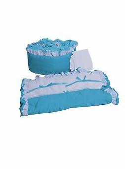 Baby Doll Bedding Regal Cradle Bedding Set, Aqua