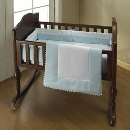 Baby Doll Bedding Ric Rac Cradle Set, Blue