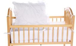 Baby Doll Bedding Solid Cradle Set, White