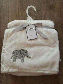 Carter's Baby Elephant Blanket,Ivory,One Size