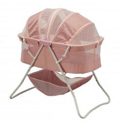 Big Oshi Baby Emma Bassinet with Net, Pink