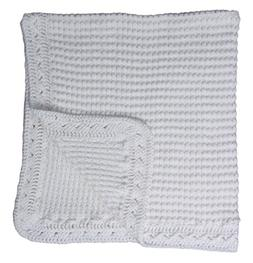 Baby Fancy Christening White Hand Crochet 100% Cotton Shawl/