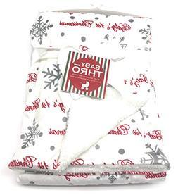 Baby's First Christmas Fleece Snowflake Blanket 30x40 - Micr