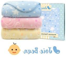 Baby Fleece Blanket Crib Quilt Cute Polka Dot Gift Box Soft
