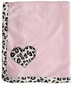 BON BEBE Baby-Girls Newborn Animal Print Plush Coral Fleece