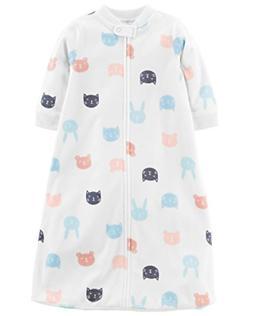 Carter's Unisex Baby Fleece Sleepbag Sleepsuit, Animal Faces