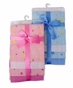 Bambini Baby Four Pack Receiving Blanket
