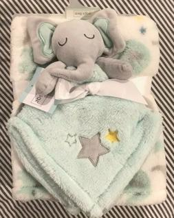 BABY GEAR 2 Piece Security Blanket Lovey Set Elephant NWT