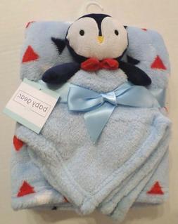 Baby Gear Baby Boys Blanket Set Triangle Print & Penguin Sec
