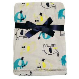 Baby Gear Plush Velboa Ultra Soft Baby Blanket 30 x 40, Gray