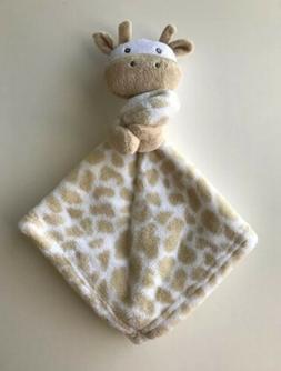 SL Home Fashions Baby Giraffe Lovey Security Blanket Tan/Whi