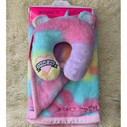 🎀Betsy Johnson Baby Girl Blanket & Support Pillow Set Uni