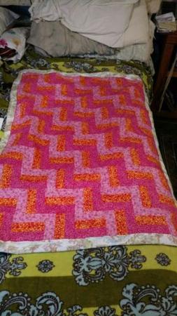 Baby Girl Blanket, Crib Quilt, Kids Bedding, Toddler Blanket