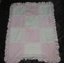 COCALO BABY GIRL BLANKET PINK CREAM IVORY WHITE PATCHWORK RU
