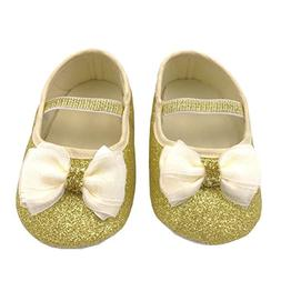 M2cbridge Baby Girl's Bow Dress Shoe Infant Toddler Pre-walk