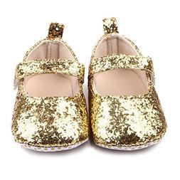 M2cbridge Baby Girl's Bow Dress Shoe Infant Toddler Pre-walk