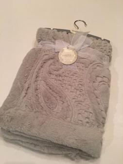 Kyle And & Deena Baby Girl Boy Grey Gray Elegant Blanket Fau