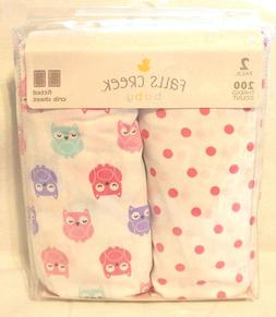 Falls Creek Baby Girl Fitted Crib Sheets 2 Pack 200 Thread C