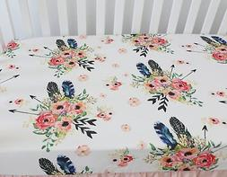 Baby Girl Floral Fitted Crib Sheet Toddler Bed Mattresses fi