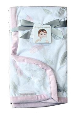 c0deacdc1b64 Blankets and Beyond Baby Girl Blanket Pink Feather Print