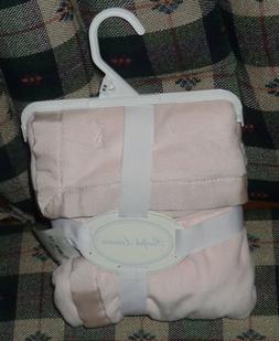 RALPH LAUREN BABY GIRL Plush Blanket  POWDER PINK  NEW WITH