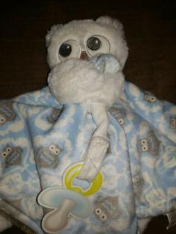 Blankets & Beyond Baby Girl Plush Security Blanket~Owl~ Bear