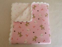 Baby Girl Receiving Blanket Hand Crochet EdgeFree Shipping