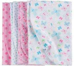GERBER BABY GIRL'S 4-Pack Flannel Receiving Blankets - Butte
