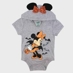 Disney Baby Girl's Minnie Mouse Short Sleeve Hooded Hallowee
