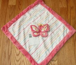 Kidsline Baby Girl Security Blanket ~ Butterfly ~ Pink/Rose