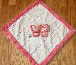 Kidsline Baby Girl Security Blanket ~ Butterfly ~ Pink/Rose