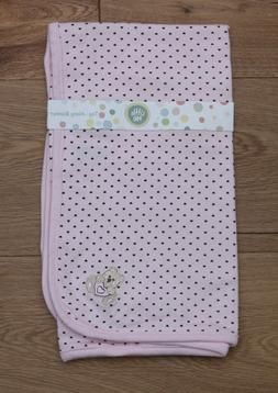 Little Me Baby Girl Tag Along Blanket ~ Pink & Brown ~ Heart