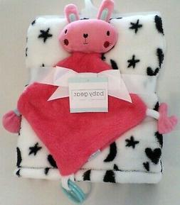 Baby Gear Baby Girls Blanket & Bunny Security Blanket Set  W
