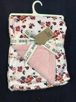 Chick Pea Baby Girls Blanket Flowers Print Pink Micro Mink/S