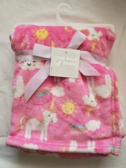 Baby Girls Blanket, Unicorns, Soft, Shower Gift, Pink, White