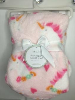 Lollypop Baby Girls Infants Unicorn Flowers Pink Blanket 30x
