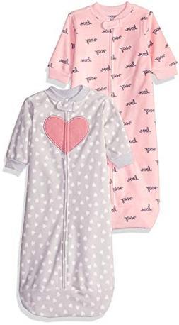 Carter's Baby Girls 2-Pack Microfleece Sleepbag, Pink/Grey H