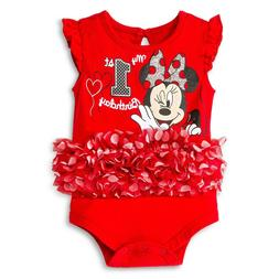 baby girls minnie mouse first birthday tutu