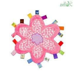 Baby Girls Pink Taggy Security Blanket Cute Teething Cloth T
