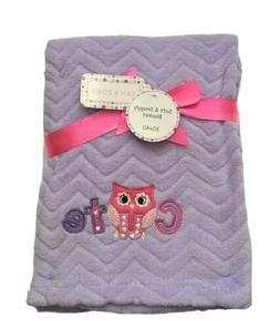 Baby Girls Plush Blanket Shower Gift, Purple, 30x40, Cutie O