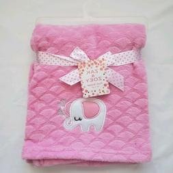 Baby Girls Plush Blanket Shower Gift Soft Blankie, 30x40, Pi
