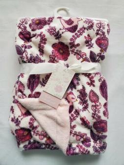 Baby Girls Plush Blanket, Soft, Shower Gift, Pink, Purple, W